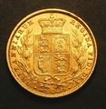 London Coins : A130 : Lot 1883 : Sovereign 1855 WW Raised S.3852C NEF
