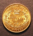 London Coins : A130 : Lot 463 : Australia Sovereign 1868 Sydney Branch Mint Marsh 373 NEF with a few surface marks