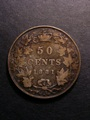 London Coins : A130 : Lot 478 : Canada 50 Cents 1881H KM# Near Fine with old tone