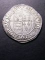 London Coins : A131 : Lot 1029 : Shilling Elizabeth I Second Issue Bust 3C S.2555 mintmark Martlet VF or near so with some dark tone ...