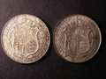 London Coins : A131 : Lot 1516 : Halfcrowns (2) 1902 ESC 746 EF, 1906 ESC 751 GVF/NEF toned