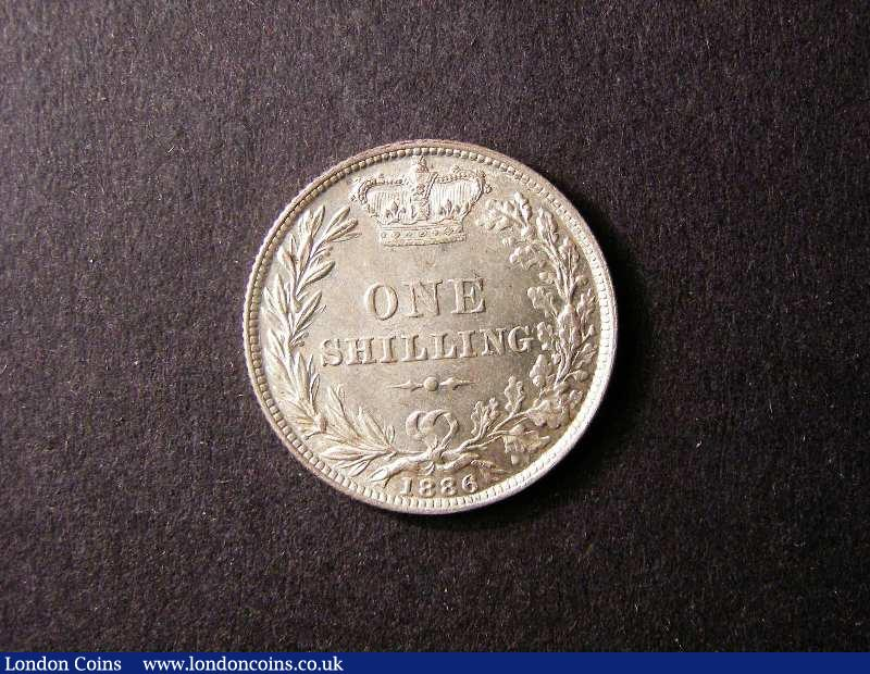 Shilling 1886 ESC 1347 GEF/EF : English Coins : Auction 131 : Lot 1772