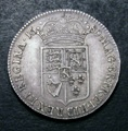 London Coins : A132 : Lot 1014 : Halfcrown 1689 First Shield Caul and Interior frosted, No Pearls ESC 504 pleasing aEF and with a...