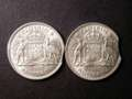 London Coins : A132 : Lot 582 : Mis-Strikes (2) Australia Florins 1959 and 1960 A/UNC to UNC both with planchet clips