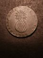 London Coins : A132 : Lot 662 : Barbados Penny 1788 KM#Tn8 NEF with a scratch before the bust