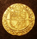 London Coins : A133 : Lot 166 : Laurel James I Third Coinage Fourth Head, very small ties S.2638B mintmark Lis Good Fine slightl...