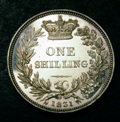 London Coins : A133 : Lot 778 : Shilling 1831 Plain edge Proof ESC 1266 nFDC and fully lustrous with a few hairlines and light conta...