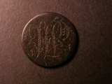 London Coins : A134 : Lot 1642 : Love Token Halfpenny Copper an engraved love token 'Sarah Horton 1764' with ornate THC monog...