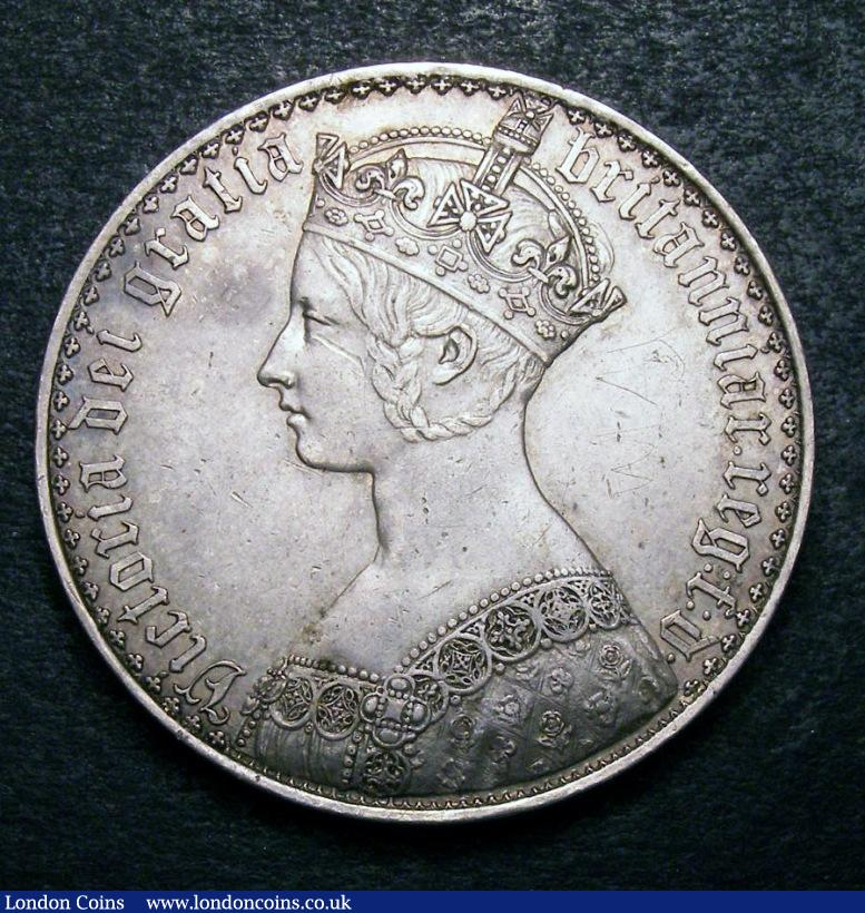 Crown 1847 Gothic UNDECIMO ESC 288 VF with some contact marks : English Coins : Auction 134 : Lot 1849
