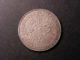 London Coins : A134 : Lot 2051 : Halfcrown 1693 3 over inverted 3 ESC 521 EF with a flan flaw behind the bust