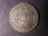 London Coins : A134 : Lot 2279 : Shilling 1723 SSC First Bust ESC 1176 EF toned with some light haymarking on the reverse