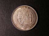 London Coins : A134 : Lot 2302 : Shilling 1825 Shield in Garter ESC 1253 GEF/UNC with minor cabinet friction