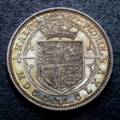 London Coins : A134 : Lot 2318 : Shilling 1865 Pattern Obverse Coroneted Head, Reverse HALF FLORIN divided by two ornaments, ...