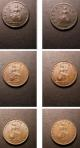 London Coins : A135 : Lot 2164 : Farthings (6) 1736 Fine, 1754 Fine, 1834 NEF, 1841 unbarred first A in GRATIA NEF, 1...