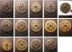 London Coins : A135 : Lot 2372 : China 50 Cash (8) and 20 Cash (6) 19th century a mixed group most with attributions, in mixed gr...
