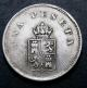 London Coins : A136 : Lot 1073 : Spain Peseta Trial strike undated in nickel GVF scarce