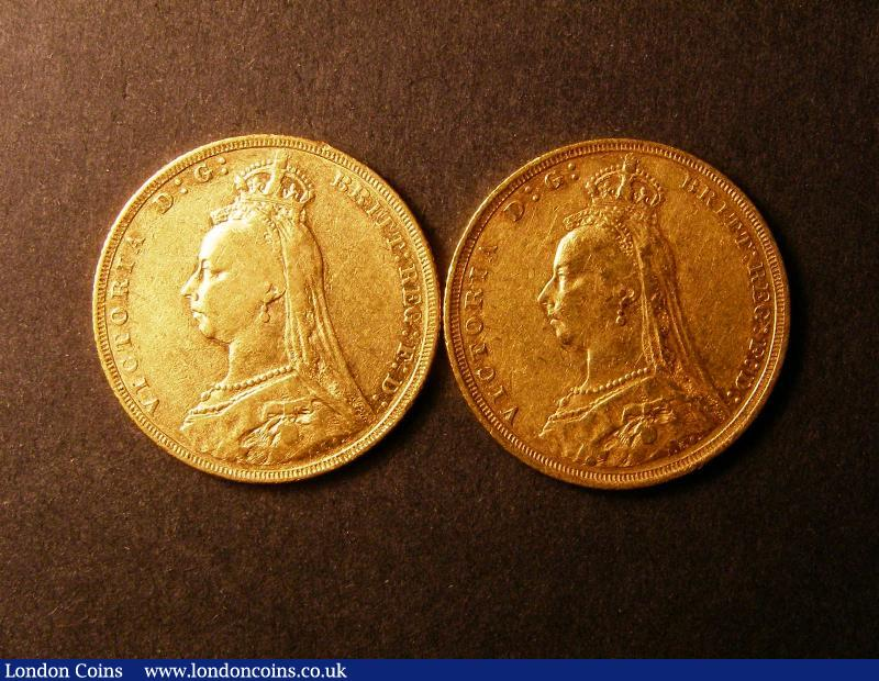 Sovereigns (2) 1888S Fine, 1889 NVF/F : English Coins : Auction 136 : Lot 2400
