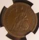 London Coins : A137 : Lot 384 : Farthing 1665 Pattern in Copper with straight-grained edge Peck 423 NGC MS64 BN