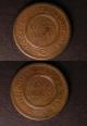 London Coins : A140 : Lot 1192 : Pennies 19th Century Warwickshire (2) 1811 Birmingham and Swansea Rose Copper Company Davis 97 Withe...