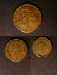 London Coins : A140 : Lot 1593 : Isle of Man Onchan Internment Camp (3) Sixpence undated KM#Tn25 EF, Penny undated KM#Tn24 EF,...