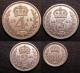 London Coins : A140 : Lot 2087 : Maundy Set 1943 ESC 2560 GEF
