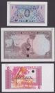 London Coins : A140 : Lot 575 : Laos printers colour trials (3), 1 kip issued 1962 in blue & pink No.67 Pick8ct, 5 kip i...