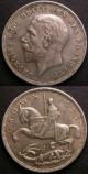 London Coins : A141 : Lot 1307 : Crowns (2) 1927 Proof ESC 367 but only Fine along with 1935 ESC 375 GVF