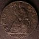 London Coins : A141 : Lot 1337 : Farthing 1691 Tin with the edge not completely legible, probably Peck 582 with small date figure...