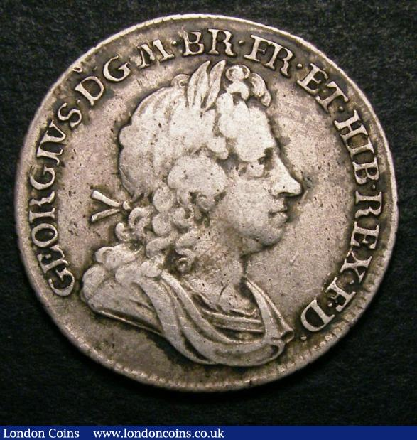 Shilling 1716 Roses and Plumes ESC 1163 Fine and graded 25 by CGS : Certified Coins : Auction 141 : Lot 2265