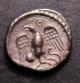 London Coins : A142 : Lot 1782 : Unit Ar. Atrebates. Epaticcus. C,35-43 AD. Obv; Bust right, EPATI before. Rev: Eagle...