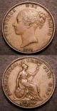 London Coins : A142 : Lot 2579 : Pennies (2) 1844 Plain 4 Peck 1487 Bramah 4 NEF/GVF, 1848 8 over 6 Peck 1494 thick I in GRATIA V...