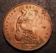 London Coins : A142 : Lot 2653 : Penny 1858 with what appears to be F over B in DEF an unusual overstrike previously unseen by us,...