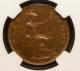 London Coins : A142 : Lot 597 : Halfpenny 1931 Proof Freeman 417 dies 3+B Rated R18 by Freeman NGC PF66 BN