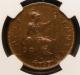 London Coins : A142 : Lot 598 : Halfpenny 1932 Proof Freeman 419 dies 3+B Rated R18 by Freeman NGC PF65 RB