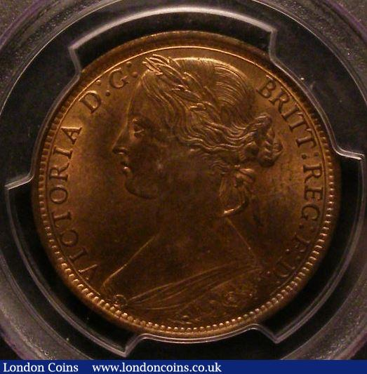 Penny 1866 Freeman 52 dies 6+G PCGS MS64 RB : Certified Coins : Auction 142 : Lot 614