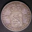 London Coins : A143 : Lot 1027 : Netherlands 2 1/2 Gulden 1860 KM#82 VF with a small edge bruise