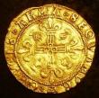 London Coins : A143 : Lot 1078 : Scotland Crown of 20 Shillings James V Shield with rounded base, trefoil stops S.5370 Good Fine with...