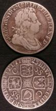 London Coins : A143 : Lot 1560 : Crown 1667 AN.REG. on edge ESC 35 VG the second part of the date worn, Shilling 1723 SSC First Bust ...
