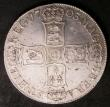 London Coins : A143 : Lot 1582 : Crown 1703 VIGO ESC 99 VF or slightly better with an old long scratch on the portrait