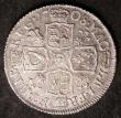 London Coins : A143 : Lot 2205 : Shilling 1708 Plumes ESC 1148 NEF/GVF with a few small flecks of haymarking