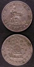 London Coins : A143 : Lot 702 : Shilling Yorkshire Sheffield 1811Younge and Deakin Davis 40 Fine, Sixpence Cheshire Stockport 1812 T...