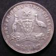 London Coins : A143 : Lot 828 : Australia Florin 1914 H VF (6 pearls showing) and scarce