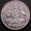 London Coins : A143 : Lot 836 : Australia Florin 1922 bright nEF (8 pearls show)