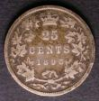London Coins : A143 : Lot 884 : Canada 25 Cents 1893 KM#5 VG Scarce