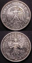 London Coins : A143 : Lot 955 : Germany (2) Weimar Republic 3 Marks 1929E Proof KM#65 nFDC with much original mint brilliance, Germa...