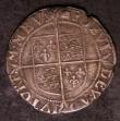 London Coins : A144 : Lot 1255 : Shilling Elizabeth I Sixth Issue S.2577 mintmark Woolpack, Fine or slightly better with some old sur...