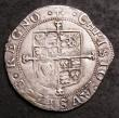 London Coins : A144 : Lot 1276 : Sixpence Charles I Group E, type 4.2 S.2816 mintmark Anchor VF with an irregularly shaped flan, some...