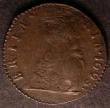 London Coins : A144 : Lot 1460 : Farthing 1698 Date in legend Peck 679 Near Fine with flan stress on the upper and lower parts of Bri...