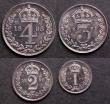 London Coins : A144 : Lot 1791 : Maundy Set 1898 ESC 2513 UNC with matching tone