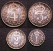 London Coins : A144 : Lot 1802 : Maundy Set 1908 ESC 2524 UNC and nicely toned